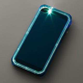 iPhone SE/5s/5用シャイニングケース/クリアブルー