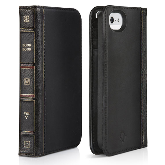 【iPhone SE/5s/5】BookBook クラシックブラック 手帳型ケース