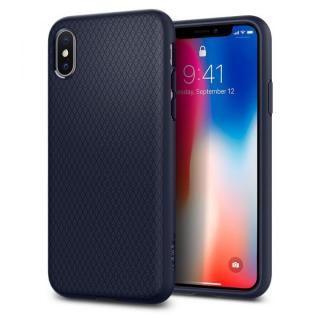Spigen リキッドエアー ミッドナイトブルー iPhone X