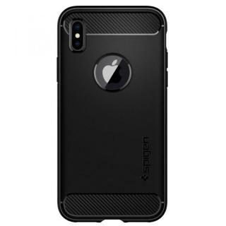 【iPhone Xケース】Spigen ラギッドアーマー マットブラック iPhone X_1