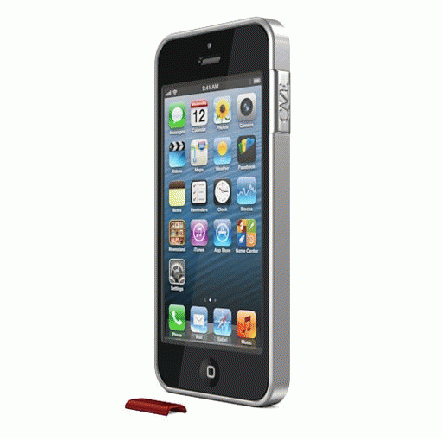 ThinEdge frame case  iPhone SE/5s/5 - Matte Silver