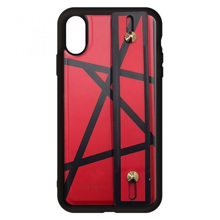 iPhone XS/X ケース HAND BELT CASE ハンドベルト付きケース RED iPhone XS/X_0