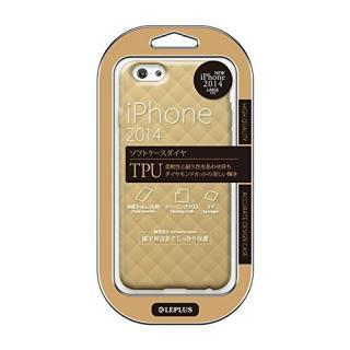 LEPLUS ダイヤカットデザインTPUケース シャンパンブラウン iPhone 6 Plus