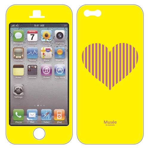 iPhone SE/5s/5 ケース iPhone5 NanoSkin red bigheart_0