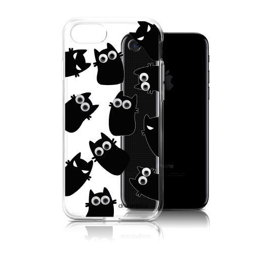 【iPhone7ケース】クリアTPUデザインケース EYE キャット iPhone 7_0