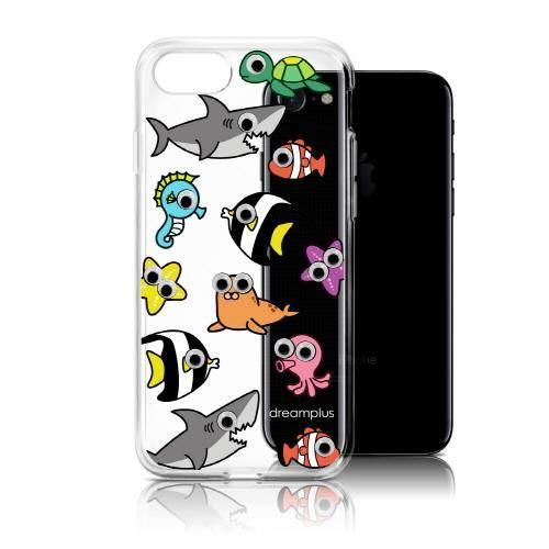 【iPhone7ケース】クリアTPUデザインケース EYE フィッシュ iPhone 7_0