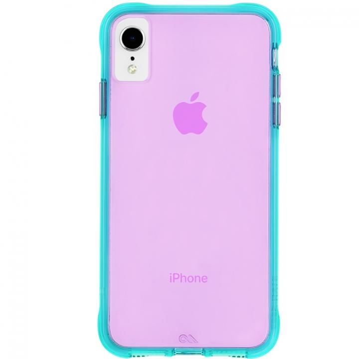 iPhone XR ケース Case-Mate Tough Clear Neon ケース Turquoise Purple iPhone XR_0