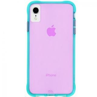 iPhone XR ケース Case-Mate Tough Clear Neon ケース Turquoise Purple iPhone XR