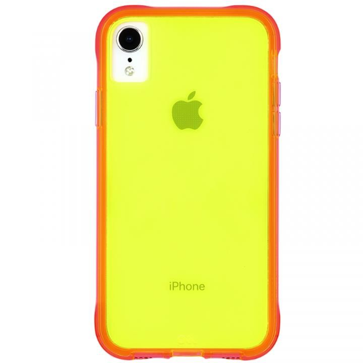 iPhone XR ケース Case-Mate Tough Clear Neon ケース Green Pink iPhone XR_0