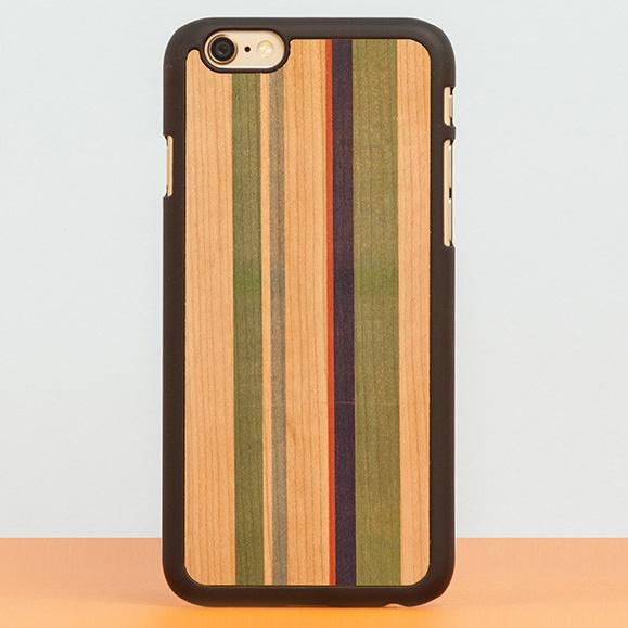 【iPhone6ケース】スナップオン 天然木ケース PRINTED  Stripes 2 iPhone 6_0