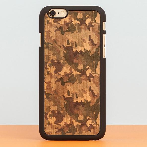 スナップオン 天然木ケース PRINTED  Camouflage 2 iPhone 6