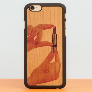 スナップオン 天然木ケース PRINTED  Lipstick iPhone 6