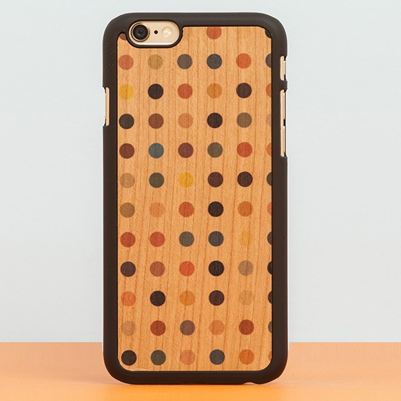 【iPhone6ケース】スナップオン 天然木ケース PRINTED  Colored pois iPhone 6_0