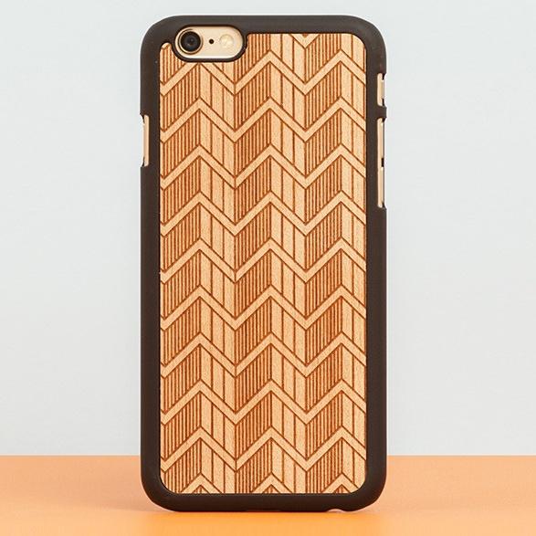 【iPhone6ケース】スナップオン 天然木ケース DECORATED  GREEK iPhone 6_0