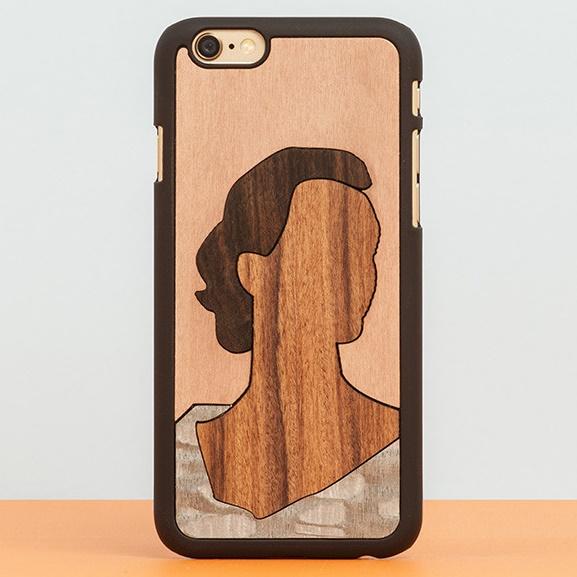スナップオン 天然木ケース INLAYS Edith iPhone 6