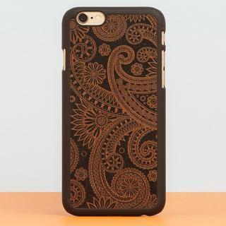 スナップオン 天然木ケース DECORATED-DAMASKED Black iPhone 6