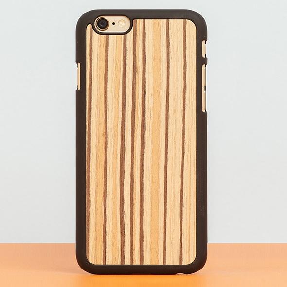iPhone6 Plus ケース スナップオン 天然木ケース PLAIN Zebranowood iPhone 6 Plus_0