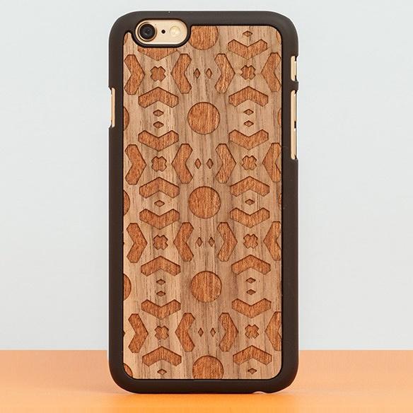 【iPhone6ケース】スナップオン 天然木ケース DOUBLE ESSENCE WALNUT iPhone 6_0