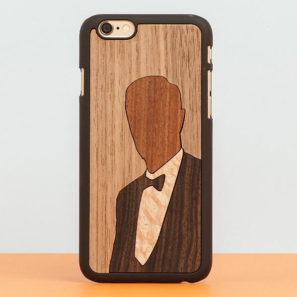 【iPhone6ケース】スナップオン 天然木ケース INLAYS Enoch iPhone 6_0
