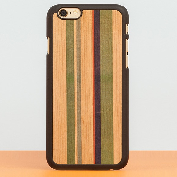 iPhone6 Plus ケース スナップオン 天然木ケース PRINTED  Stripes 2 iPhone 6 Plus_0