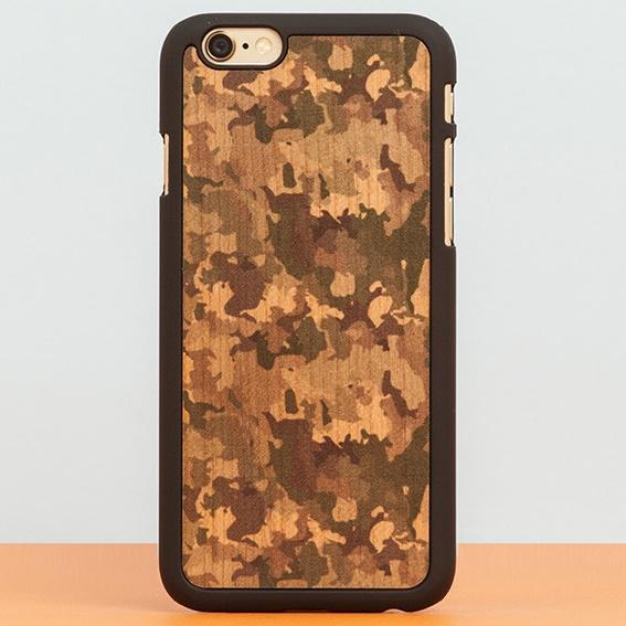 スナップオン 天然木ケース PRINTED Camouflage 2 iPhone 6 Plus