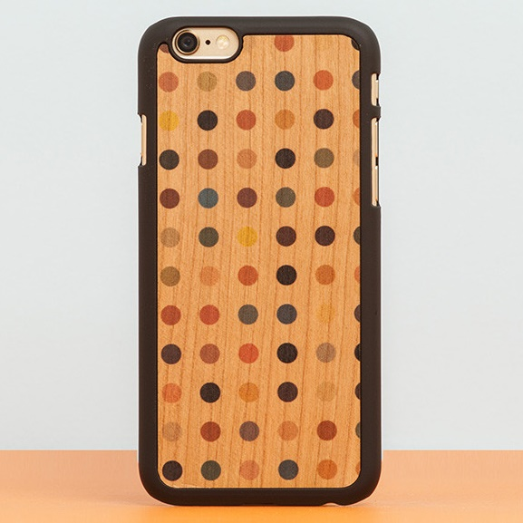 iPhone6 Plus ケース スナップオン 天然木ケース PRINTED  Colored pois iPhone 6 Plus_0