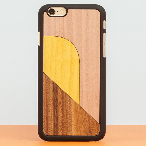iPhone6 Plus ケース スナップオン 天然木ケース INLAYS-PATCHWORK Pink iPhone 6 Plus_0