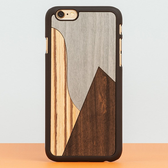 iPhone6 Plus ケース スナップオン 天然木ケース INLAYS-PATCHWORK Ebony iPhone 6 Plus_0