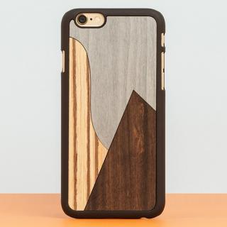 【iPhone6 Plusケース】スナップオン 天然木ケース INLAYS-PATCHWORK Ebony iPhone 6 Plus