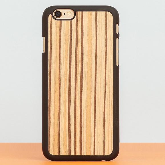 iPhone6 ケース スナップオン 天然木ケース PLAIN Zebranowood iPhone 6_0