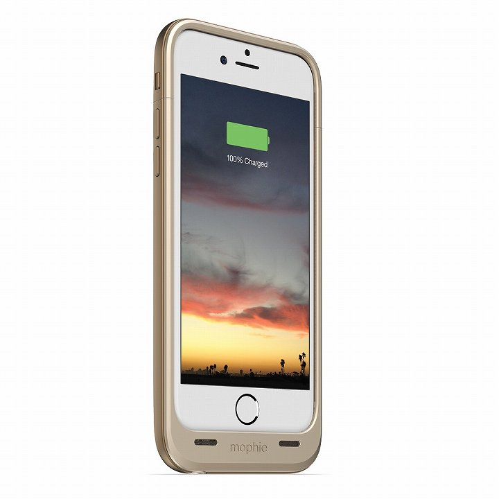 【iPhone6ケース】薄型バッテリー内蔵ケース mophie juice pack air ゴールド iPhone 6_0