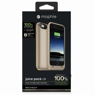 【iPhone6ケース】薄型バッテリー内蔵ケース mophie juice pack air ゴールド iPhone 6_6