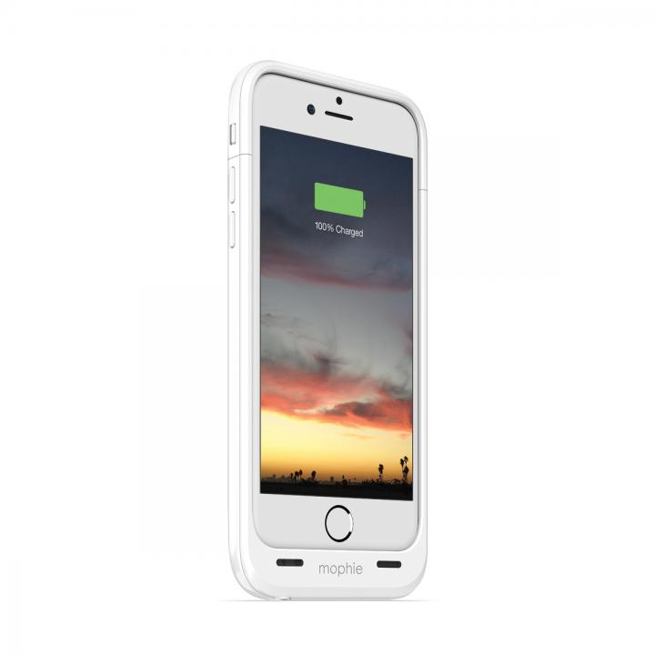 【iPhone6ケース】薄型バッテリー内蔵ケース mophie juice pack air ホワイト iPhone 6_0