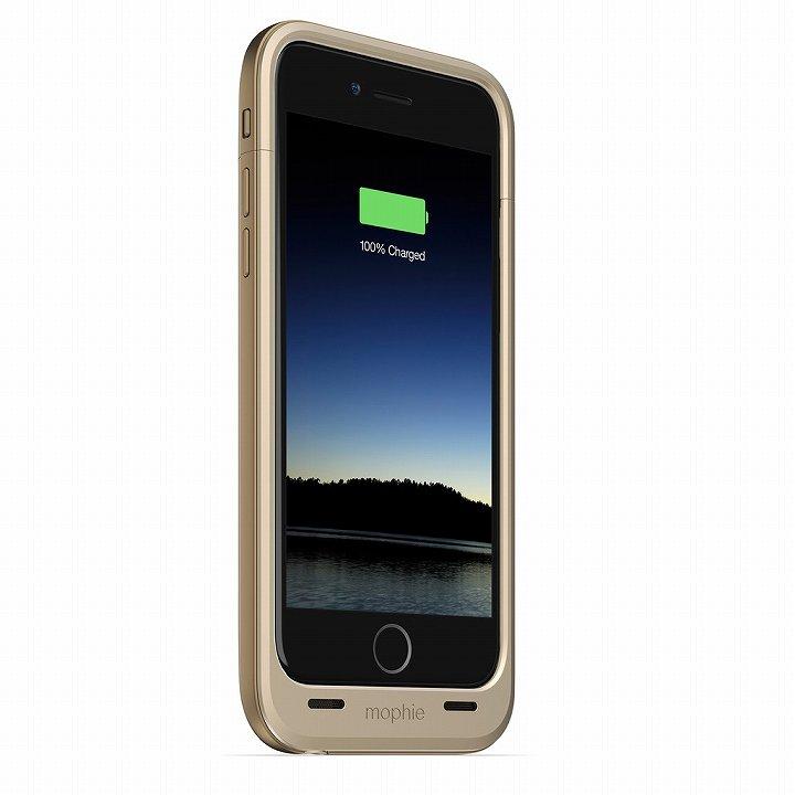 薄型バッテリー内蔵ケース mophie juice pack plus ゴールド iPhone 6