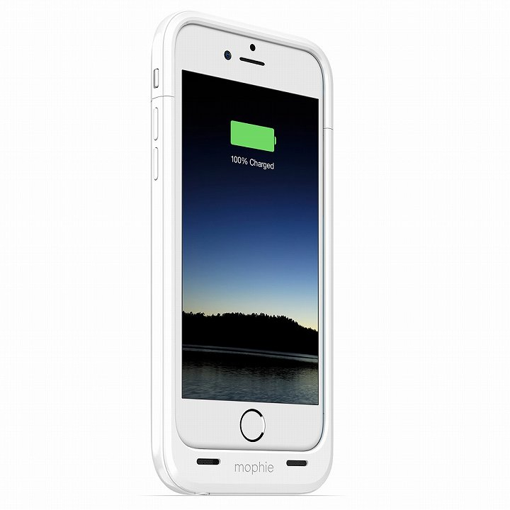 【iPhone6ケース】薄型バッテリー内蔵ケース mophie juice pack plus ホワイト iPhone 6_0