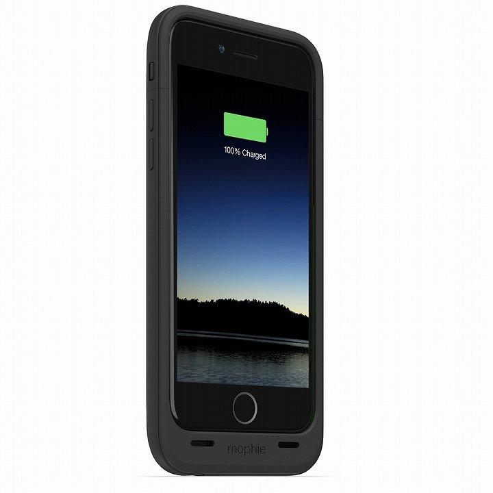【iPhone6ケース】薄型バッテリー内蔵ケース mophie juice pack plus ブラック iPhone 6_0