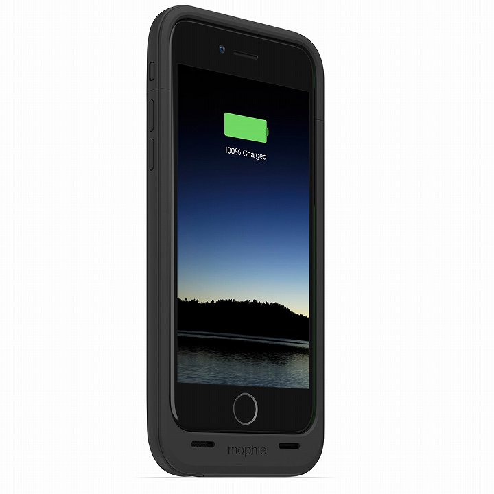 iPhone6 ケース 薄型バッテリー内蔵ケース mophie juice pack plus ブラック iPhone 6_0
