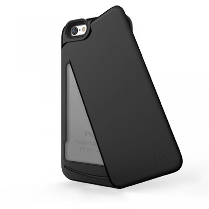 iPhone6s/6 ケース 左右開閉式ICカード収納ケース MATCH4 SWING マットブラック iPhone 6s/6_0