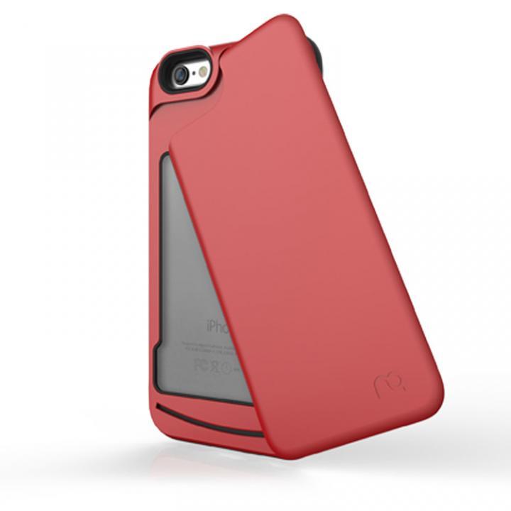 iPhone6s/6 ケース 左右開閉式ICカード収納ケース MATCH4 SWING メタリックレッド iPhone 6s/6_0