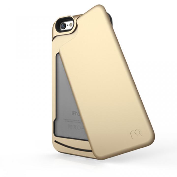 左右開閉式ICカード収納ケース MATCH4 SWING シャンパンゴールド iPhone 6s/6