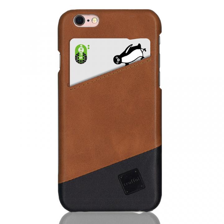 ICカード対応 カウハイドレザーケース truffol Voyage ブラウン/ブラック iPhone 6s/6