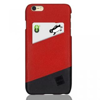 ICカード対応 カウハイドレザーケース truffol Voyage ローズレッド/ブラック iPhone 6s Plus/6 Plus