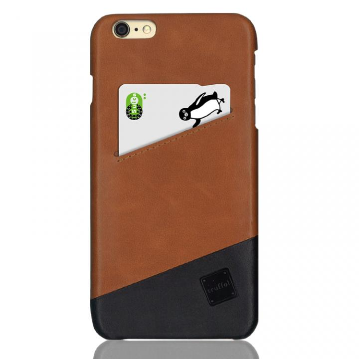 【iPhone6s Plus/6 Plusケース】ICカード対応 カウハイドレザーケース truffol Voyage ブラウン/ブラック iPhone 6s Plus/6 Plus_0