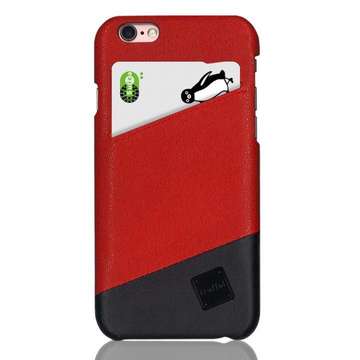 iPhone6s/6 ケース ICカード対応 カウハイドレザーケース truffol Voyage ローズレッド/ブラック iPhone 6s/6_0