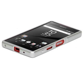 高精度アルミニウムバンパー CROY DECASE シルバー Xperia Z5 Compact