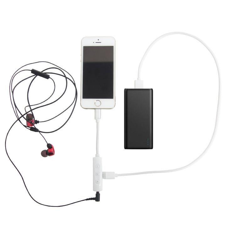 充電しながら音楽再生 Lightning変換アダプタ 3.5mmイヤホンジャック+充電ポート_0