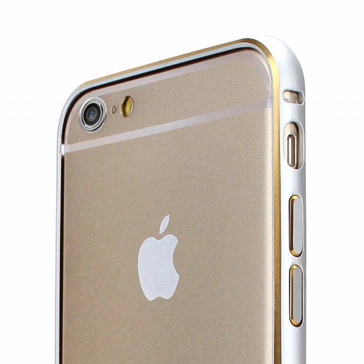 【iPhone6ケース】Fantastick ネジなし軽量アルミバンパー シルバー iPhone 6 カメラリング付_0