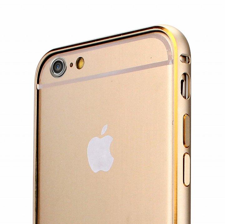 Fantastick ネジなし軽量アルミバンパー ゴールド iPhone 6 カメラリング付