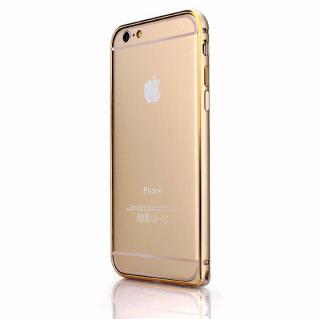 【iPhone6ケース】Fantastick ネジなし軽量アルミバンパー ゴールド iPhone 6 カメラリング付_1