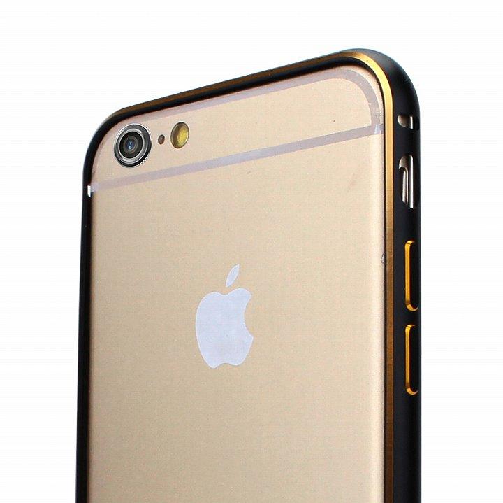 【iPhone6ケース】Fantastick ネジなし軽量アルミバンパー ブラック iPhone 6 カメラリング付_0